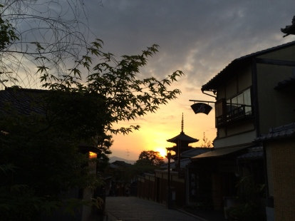 Bairro antigo em Kioto
